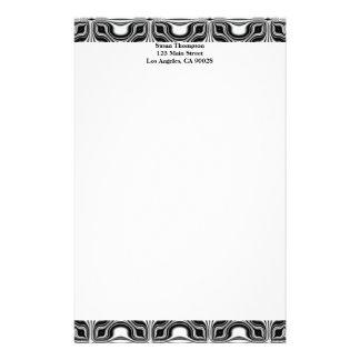 black white pattern stationery