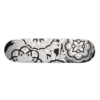 black&white pattern with sends them skate board decks