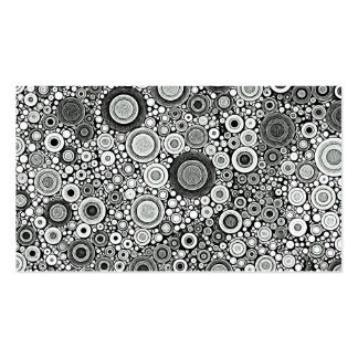 Black & White Patterns | Circles I Business Cards