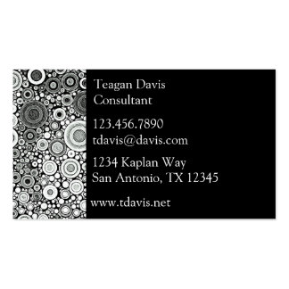 Black & White Patterns | Circles I Business Card