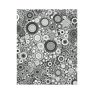 Black & White Patterns | Circles I Canvas Print