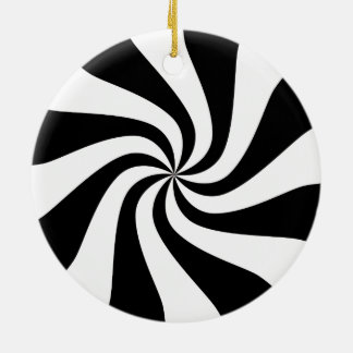 Black & White Peppermint Candy Tree Ornament