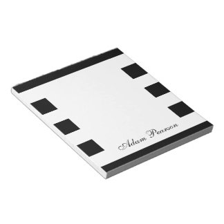 Black & White Personalized Notepad