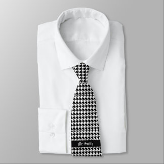 Black & White Personalized Pattern Tie