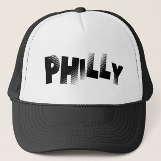 Black & White Philly Trucker Hat