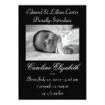 Black & White Photo Birth Announcement