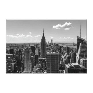 Black & White Photo of the New York City Skyline Gallery Wrap Canvas