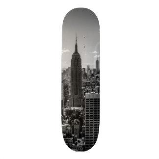 Black & White Photo of the New York City Skyline Skate Deck