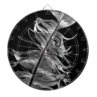 Black & White Photographic Feather Art Dartboard
