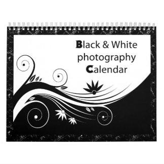 Black & white photography wall calendar