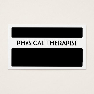 Black white Physical Therapist business cards
