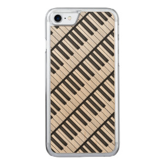 Black & White Piano Keys Carved iPhone 8/7 Case