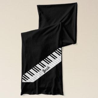 Black White Piano Keys | Classy Music Scarf
