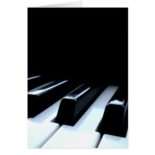 Black & White Piano Keys Greeting Card