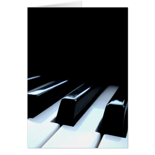Black & White Piano Keys Greeting Card