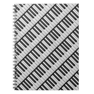 Black & White Piano Keys Notebooks
