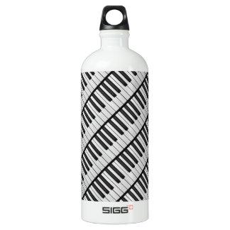 Black & White Piano Keys Water Bottle