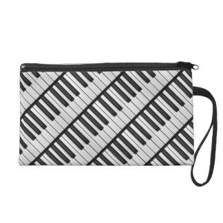 Black & White Piano Keys Wristlet