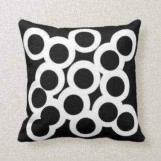 Black & White Pillow/Cushion Vers 2 circles Cushion