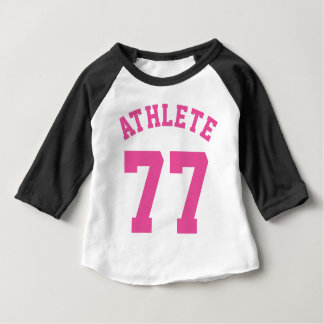 Black White & Pink Baby | Sports Jersey Design Baby T-Shirt
