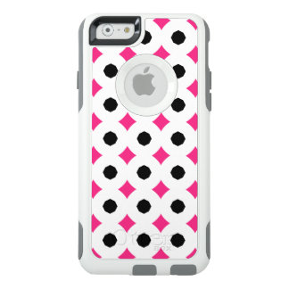 Black/White/Pink Diamond Pattern OtterBox iPhone 6/6s Case