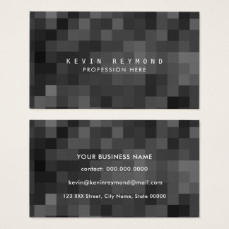 black & white pixels professional tech business card
