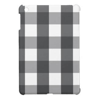 Black & White Plaid iPad Mini Cover