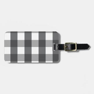 Black & White Plaid Luggage Tag