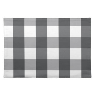 Black & White Plaid Placemat