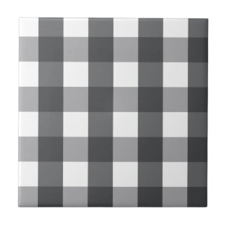 Black & White Plaid Tile