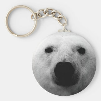 Black & White Polar Bear Key Ring