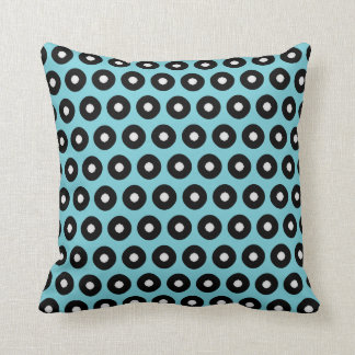 Black/White Polka Dot(Background Color Changeable) Cushion