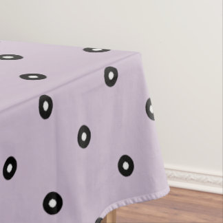 Black/White Polka Dot -Changeable Background Color Tablecloth