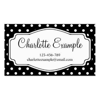 Black White Polka Dot Classic Custom Pack Of Standard Business Cards