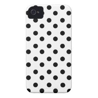 Black & white polka dot dots cute girly pattern iPhone 4 cover