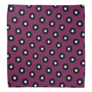 Black/White Polka Dot Pattern Bandana