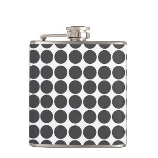 Black & White Polka Dot Pattern Flask