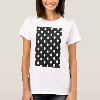 Black & White Polka Dot Pattern Girly Trendy T-Shirt
