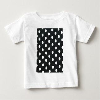 Black & White Polka Dot Pattern Girly Trendy T Shirts