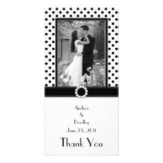 Black & White Polka Dot Photocard Picture Card