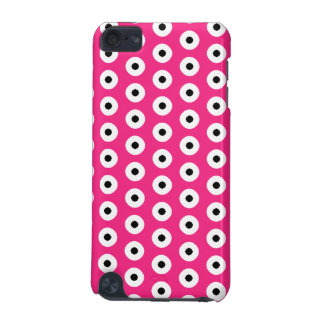 Black/White Polka Dot Pink Background (Changeable) iPod Touch 5G Cover