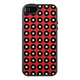 Black/White Polka Dot Red Background (Changeable) OtterBox iPhone 5/5s/SE Case
