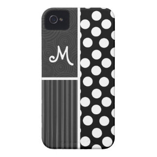 Black & White Polka Dots iPhone 4 Case-Mate Case