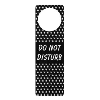 Black & White Polka Dots  | Do Not Disturb Sign
