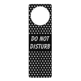 Black & White Polka Dots  | Do Not Disturb Sign Door Hanger