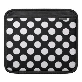 Black White Polka Dots - iPad sleeve