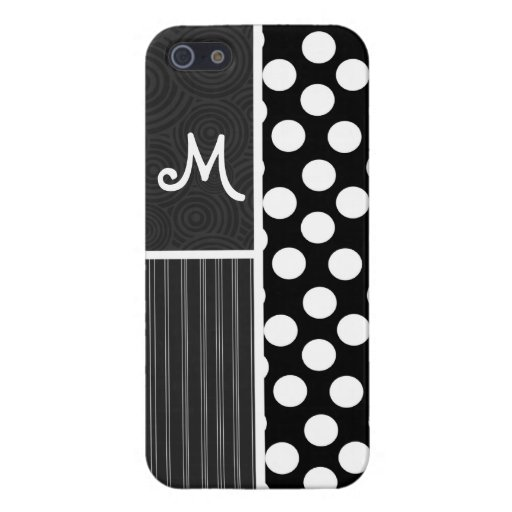 Black & White Polka Dots Covers For iPhone 5