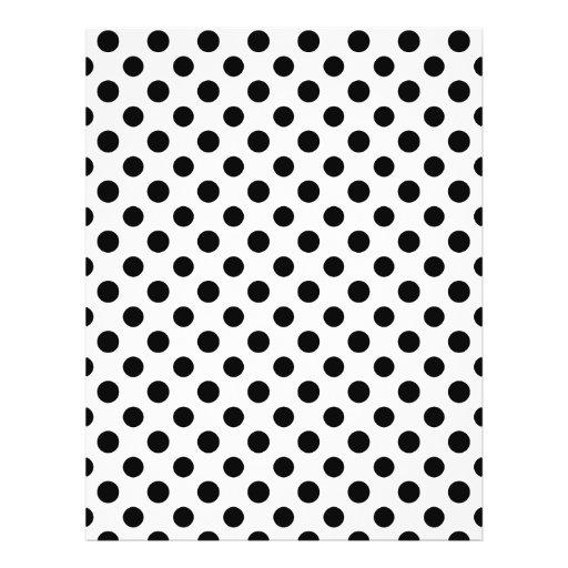 Black White Polka Dots Pattern Flyers