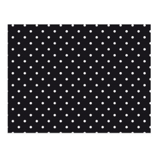 Black White Polka Dots Postcard