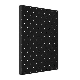 Black & White Polka Dots Stretched Canvas Prints
